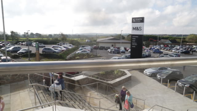 marks and spencer group plc opened a new store in fraddon cornwall uk on wednesday october 23 2019 - western script stock videos & royalty-free footage