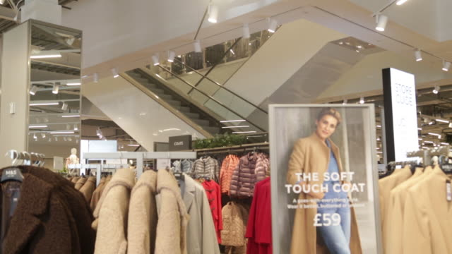 marks and spencer group plc opened a new store in fraddon cornwall uk on wednesday october 23 2019 - refrigerated section stock videos & royalty-free footage