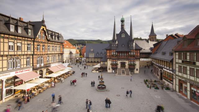 Markt Platz, Municipal Town Hall, Wernigerode, Hatz Mountains, Germany