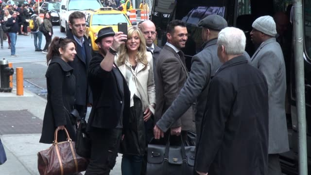 Marla Maples Tony Dovolani leaving the 'Good Morning America' show in New York City in Celebrity Sightings in New York
