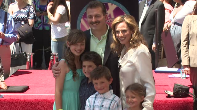 Marlee Matlin and family at the Marlee Matlin Honored With A Star On The Hollywood Walk Of Fame at Hollywood CA