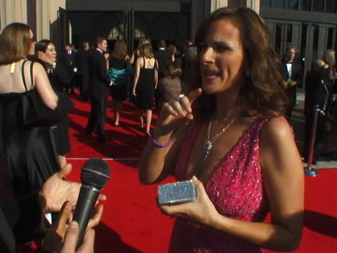 vidéos et rushes de marlee matlin at the 2004 emmy creative arts awards red carpet at shrine auditorium in los angeles, california. - shrine auditorium