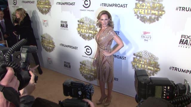 marlee matlin at the comedy central roast of donald trump arrivals at new york ny - marlee matlin video stock e b–roll