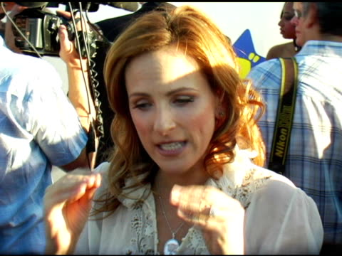 marlee matlin on the event and what she has coming up at the 13th annual dream halloween fundraising event at barker hanger in santa monica... - marlee matlin video stock e b–roll