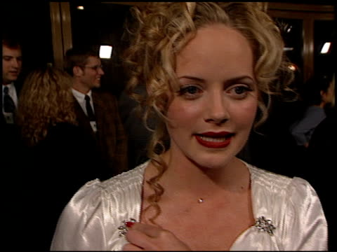 marley shelton at the 'pleasantville' premiere at the mann national theatre in westwood california on october 19 1998 - mann national theater stock videos and b-roll footage