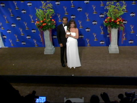 Marlo Thomas accepted the Bob Hope Humanitarian Award in honor of her late father Danny Thomas at the 2004 Primetime Emmy Awards press room at the...
