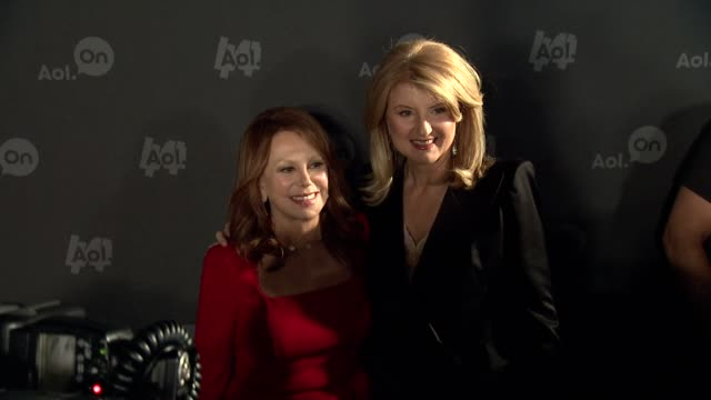 Marlo Thomas and Arianna Huffington at AOL NewFront at Moynihan Station on April 30 2013 in New York New York