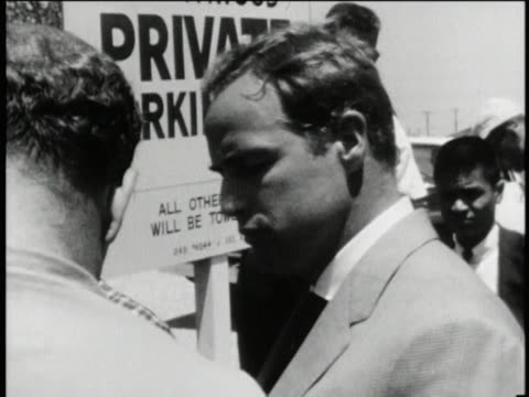 marlon brando - civil rights protest in los angeles - black civil rights stock videos & royalty-free footage