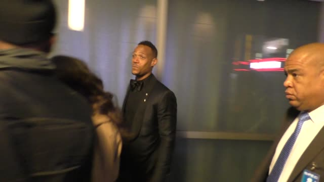 marlon wayans bill bellamy leaves the fifty shades of black premiere at regal cinemas in los angeles at celebrity sightings in los angeles on january... - bill bellamy stock videos and b-roll footage