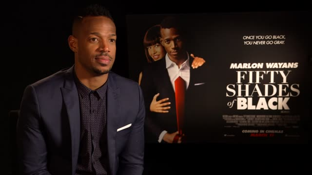 marlon wayans interview; england: london int marlon wayans interview sot - craziest thing he's ever done in a film / has no celebrity friends because... - 風刺点の映像素材/bロール