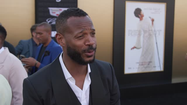 marlon wayans on why he wanted to be part of this film, why this dramatic roll felt easier than comedy and how he thinks ms. franklin would feel... - westwood neighborhood los angeles stock videos & royalty-free footage