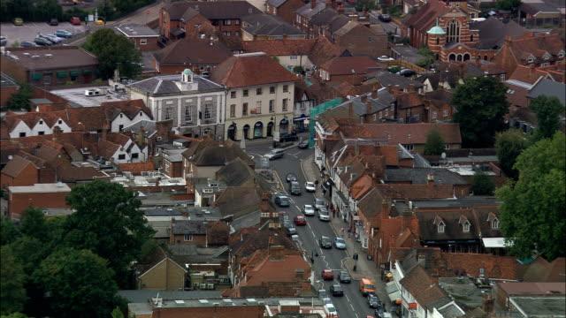 マーロー -航空写真イングランド、バッキンガムシャー、ウィルコム、イギリス - バッキンガムシャー点の映像素材/bロール