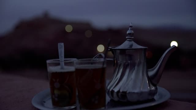 marocko traditional mint tea - tent stock videos and b-roll footage