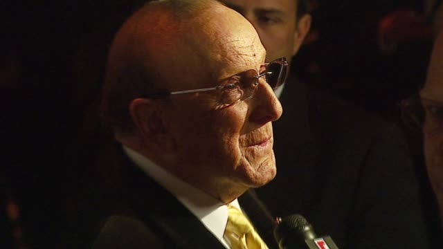 maroon 5 and clive davis at the bmg us president charles goldstuck honored at the city of hope's spirit of life award gala at pacific design center... - clive davis stock videos & royalty-free footage
