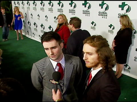stockvideo's en b-roll-footage met maroon 5 at the 3rd annual pre-oscar party hosted by global green usa on february 21, 2007. - oscar party