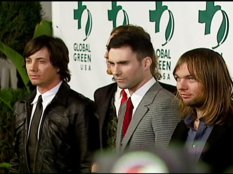 maroon 5 at the 3rd annual pre-oscar party hosted by global green usa on february 21, 2007. - oscar party stock videos & royalty-free footage