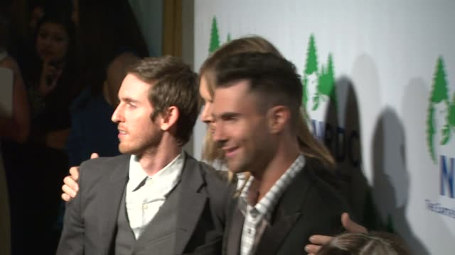 maroon 5 at the national resources defense council's 20th anniversary celebration at beverly hills ca - national resources defense council stock videos & royalty-free footage