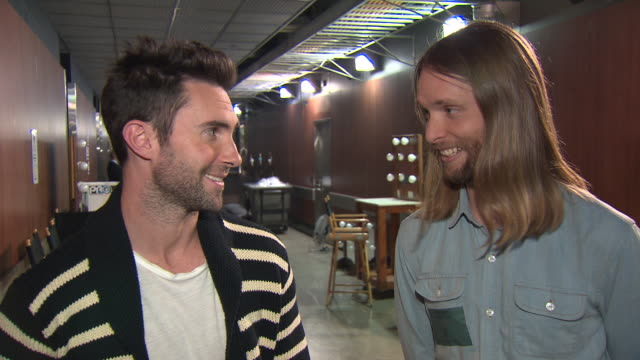 Maroon 5 talk about performing with The Beach Boys at the Grammys