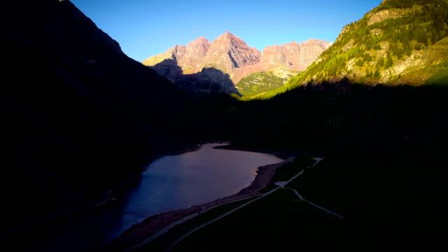 maroon bells , aspen , colorado at sunrise - aspen tree stock videos and b-roll footage
