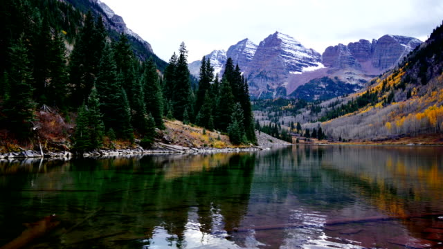 maroon bells, aspen - lake stock videos & royalty-free footage