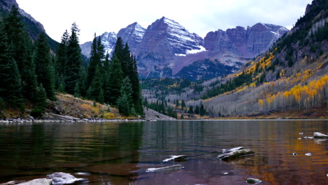 maroon bells, aspen - montagne rocciose video stock e b–roll