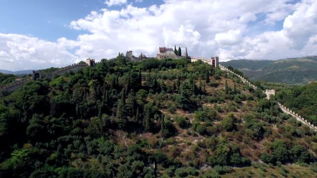 Marostica Castello Aerial View