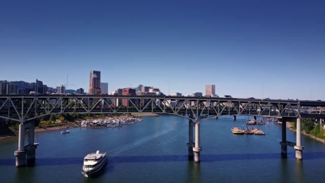 Marquam Bridge, Portland, OR - Aerial View