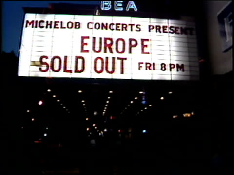 marquee and crowd at europe concert in nyc - play fight stock videos and b-roll footage