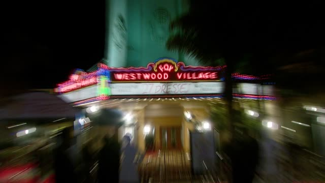 marquee at the '27 dresses' premiere at the mann village theatre in westwood california on january 7 2008 - regency village theater stock videos & royalty-free footage