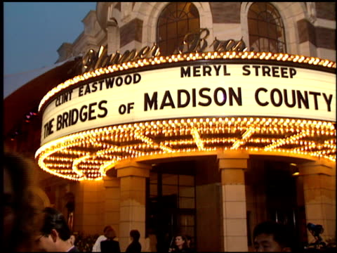 Marquee at the 'Bridges of Madison County' Premiere at Warner Brothers Lot in Burbank California on May 30 1995