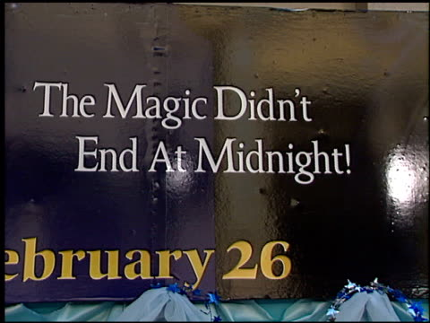 marquee at the 'Cinderella II' Premiere at the El Capitan Theatre in Hollywood California on February 23 2002