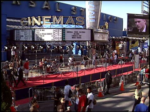 marquee at the 'cinderella man' premiere at gibson amphitheatre in universal city, california on may 23, 2005. - gibson amphitheatre stock-videos und b-roll-filmmaterial