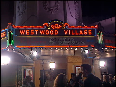 marquee at the 'erin brockovich' premiere on march 14, 2000. - erin brockovich film title stock videos & royalty-free footage