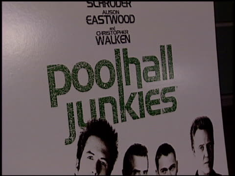 marquee at the 'poolhall junkies' premiere at arclight cinemas in hollywood california on february 19 2003 - arclight cinemas hollywood video stock e b–roll
