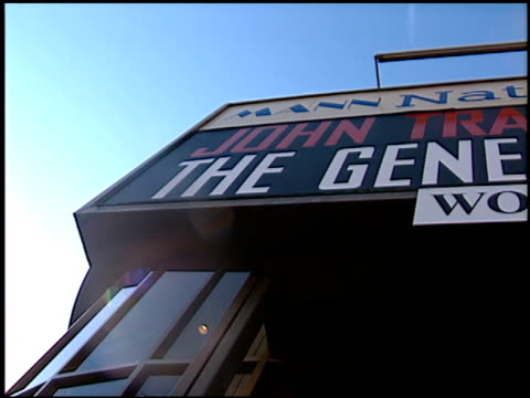 marquee at the premiere of 'the general's daughter' at the mann festival theater in westwood, california on june 15, 1999. - westwood video stock e b–roll