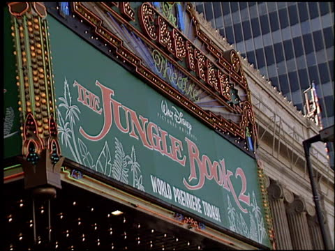marquee at the premiere of 'the jungle book 2' at the el capitan theatre in hollywood california on february 9 2003 - el capitan theatre stock videos & royalty-free footage