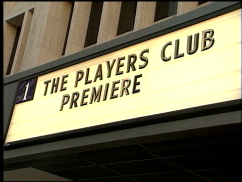 Marquee at the Premiere of 'The Players Club' on April 6 1998