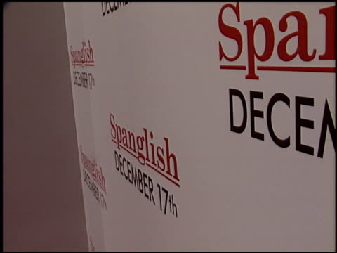 marquee at the 'spanglish' premiere on december 9 2004 - spanglish stock videos & royalty-free footage