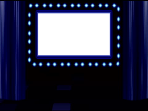marquee-blau - transparent stock-videos und b-roll-filmmaterial