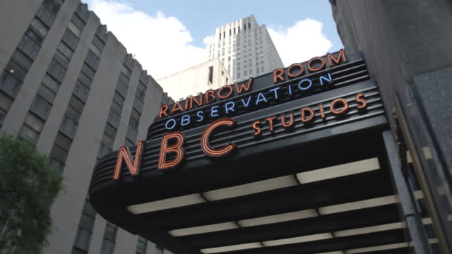 marquee entrance to new york city's nbc studio - television show stock videos & royalty-free footage