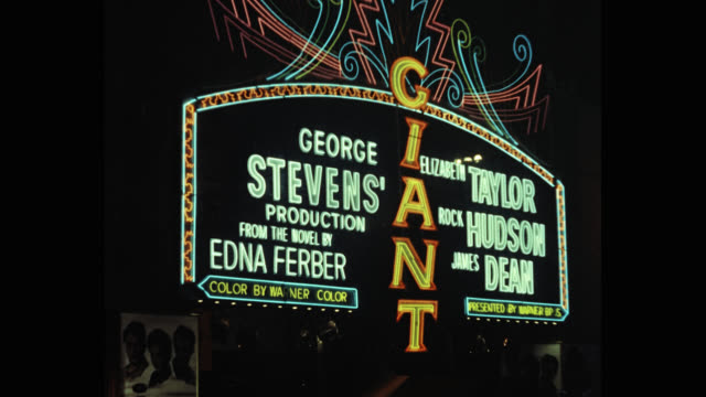 marquee of grauman's chinese theater advertising giant - hollywood and highland center stock videos & royalty-free footage