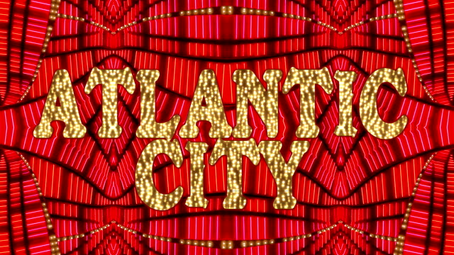atlantic city marquee - casino lights stock videos & royalty-free footage