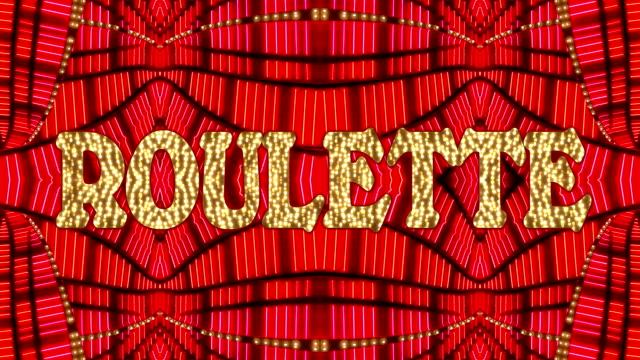 roulette marquee - casino lights stock videos & royalty-free footage