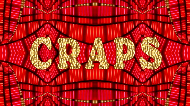 craps marquee - craps stock videos & royalty-free footage