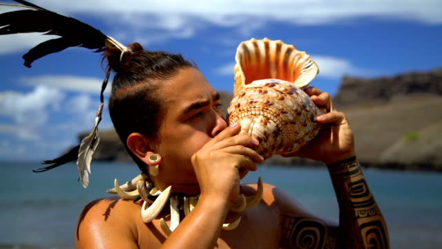 marquesan native male traditional clothing nuku hiva marquesas - polynesian ethnicity stock videos & royalty-free footage