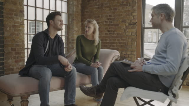 Marriage Therapy, Couple Talking to Counselor