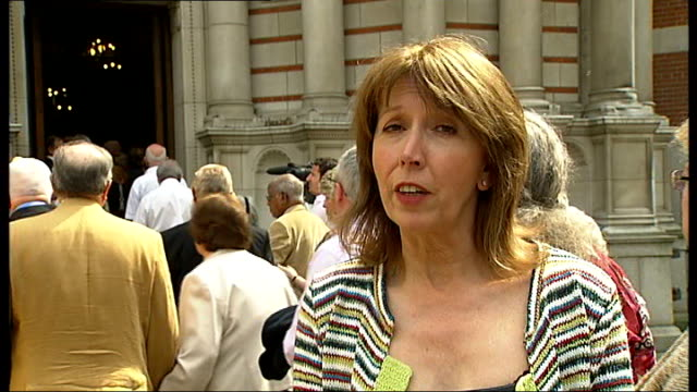 married couples celebrate at westminster cathedral mass; reporter to camera - westminster cathedral stock videos & royalty-free footage