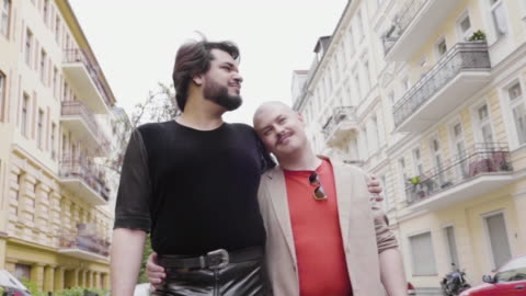 married gay couple - completely bald stock videos & royalty-free footage