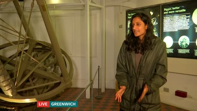 mars at its closest to earth until 2035 england london greenwich int dhara patel live interview with reporter sot - itv london tonight stock videos & royalty-free footage