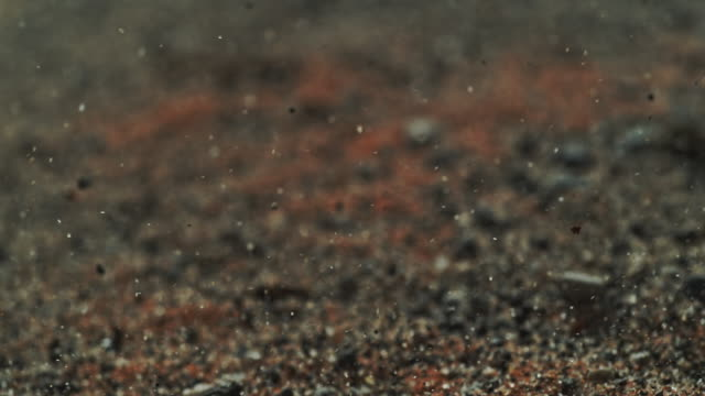 vidéos et rushes de mars red sand wind slow motion macro - sable